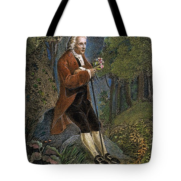 Jean-jacques Rousseau Tote Bag by Granger