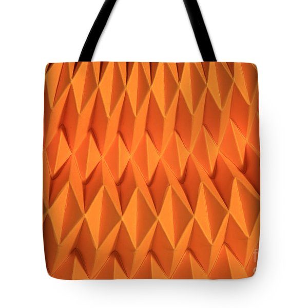 Mathematical Origami Tote Bag by Ted Kinsman
