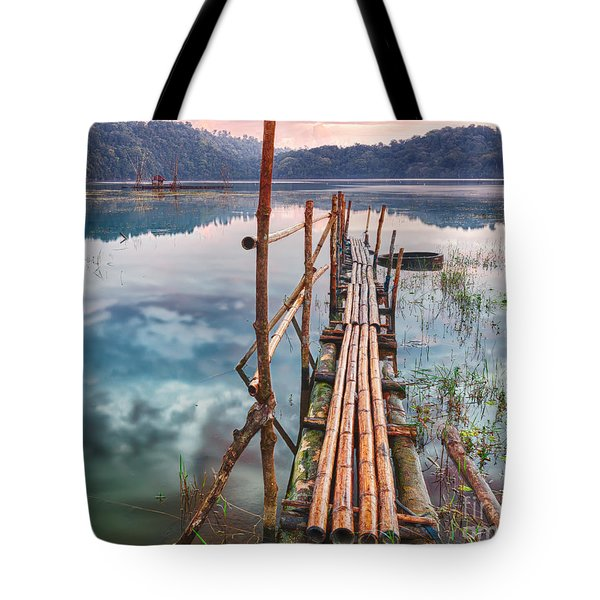 Tamblingan lake Tote Bag by MotHaiBaPhoto Prints