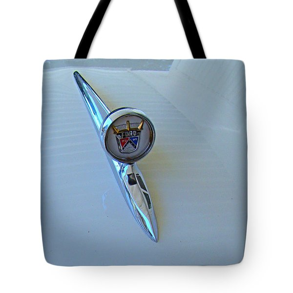 57 Fairlane 500 Emblem Tote Bag by Nick Kloepping