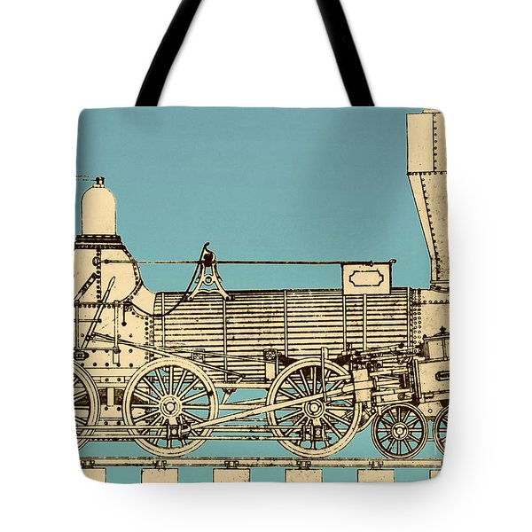 19th Century Locomotive Tote Bag by Omikron