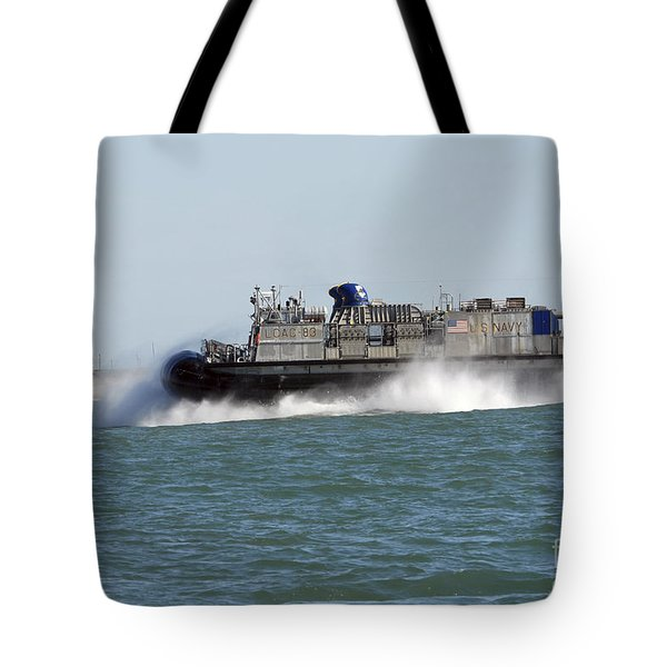 A Landing Craft Air Cushion Prepares Tote Bag by Stocktrek Images