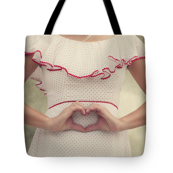 Heart Tote Bag by Joana Kruse
