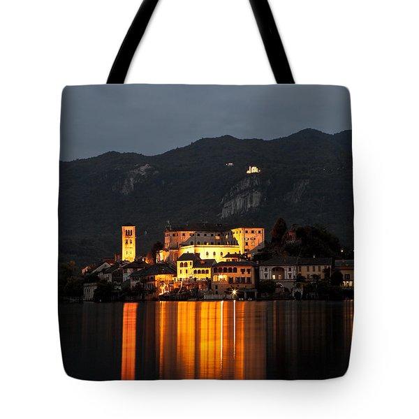 Island Of San Giulio Tote Bag by Joana Kruse