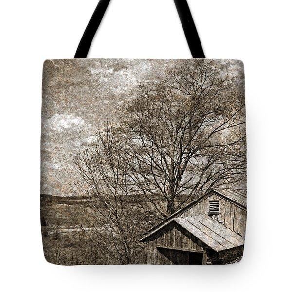Rustic Hillside Barn Tote Bag by John Stephens