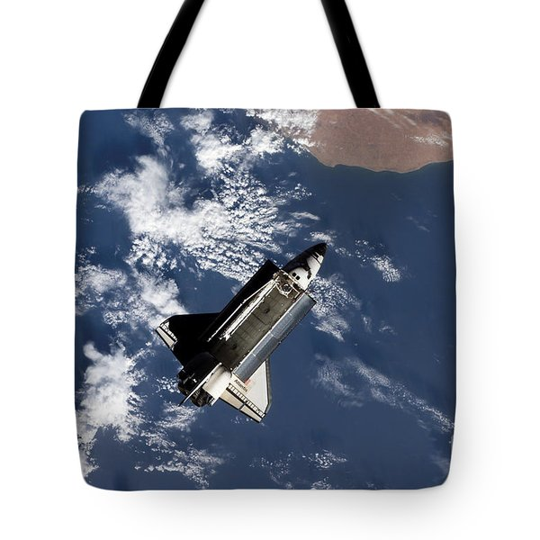 Space Shuttle Atlantis Tote Bag by Stocktrek Images