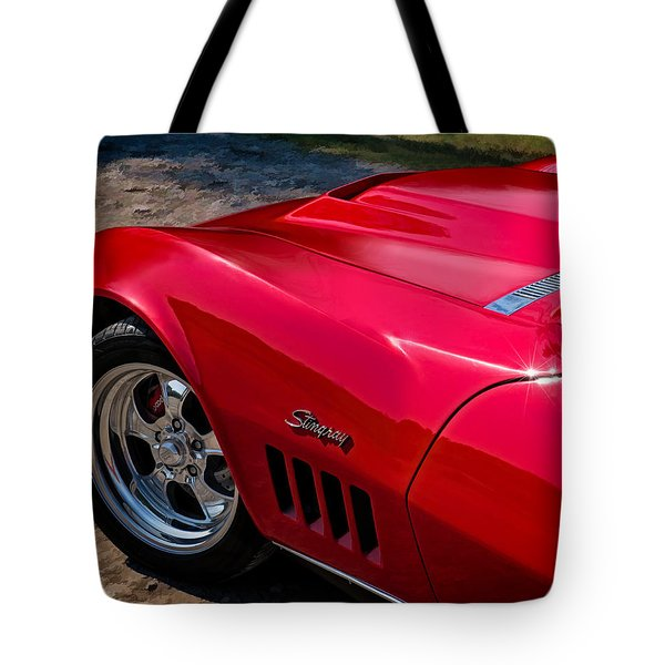 69 Red Detail Tote Bag by Douglas Pittman