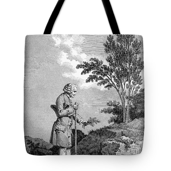 Jean Jacques Rousseau Tote Bag by Granger
