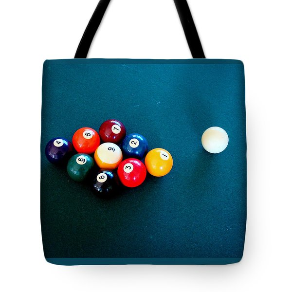 9 Ball Tote Bag by Nick Kloepping