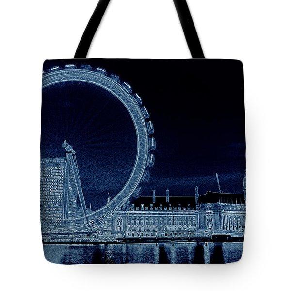 London Eye Art Tote Bag by David Pyatt