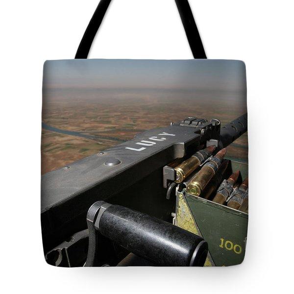 A .50 Caliber Machine Gun Points Tote Bag by Stocktrek Images