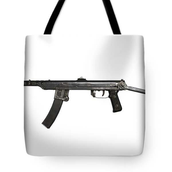 A 7.62mm Type 54 Machine Gun, A Variant Tote Bag by Andrew Chittock