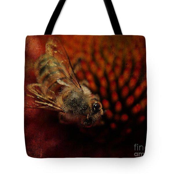 a Bee Tote Bag by Billie-Jo Miller