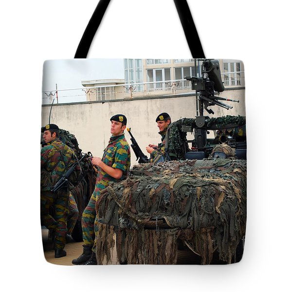 A Belgian Recce Or Scout Team Tote Bag by Luc De Jaeger