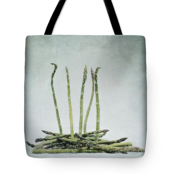 a bunch of asparagus Tote Bag by Priska Wettstein