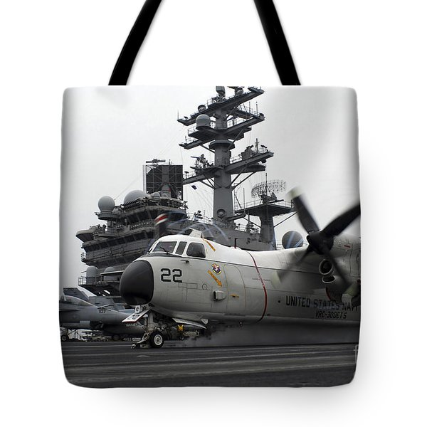A C-2a Greyhound Launches Tote Bag by Stocktrek Images
