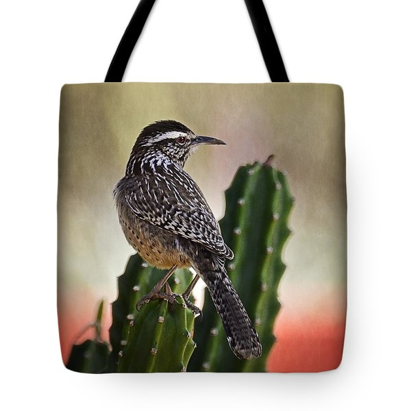 A Cactus Wren  Tote Bag by Saija  Lehtonen