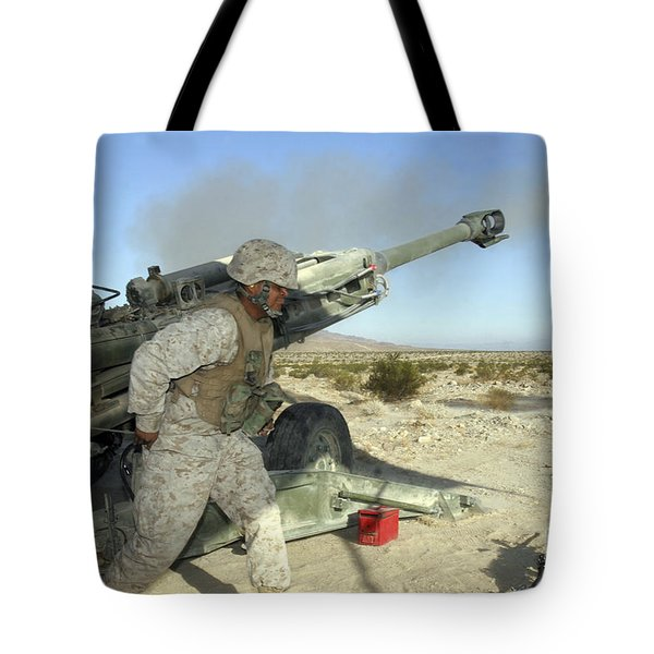 A Cannoneer Uses His Body To Pull Tote Bag by Stocktrek Images