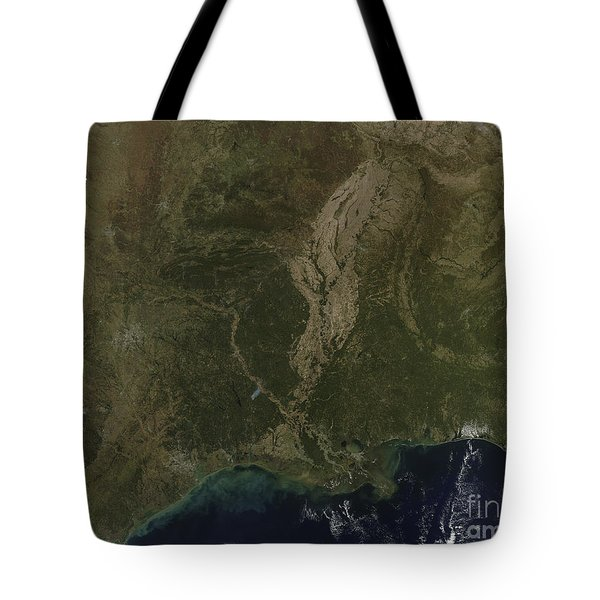 A Cloud-free View Of The Southern Tote Bag by Stocktrek Images