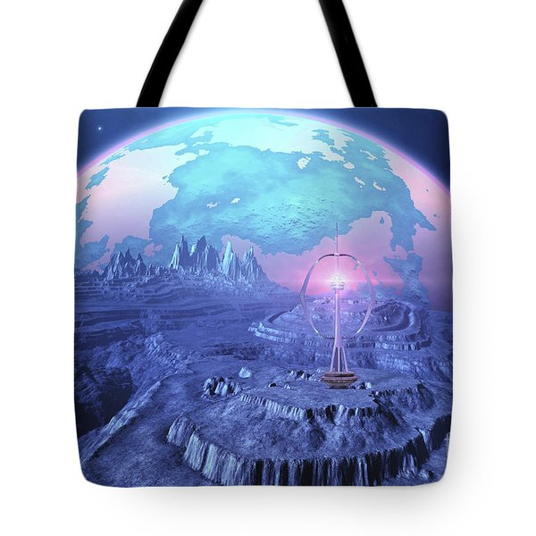 A Colony On An Alien Moon Tote Bag by Corey Ford
