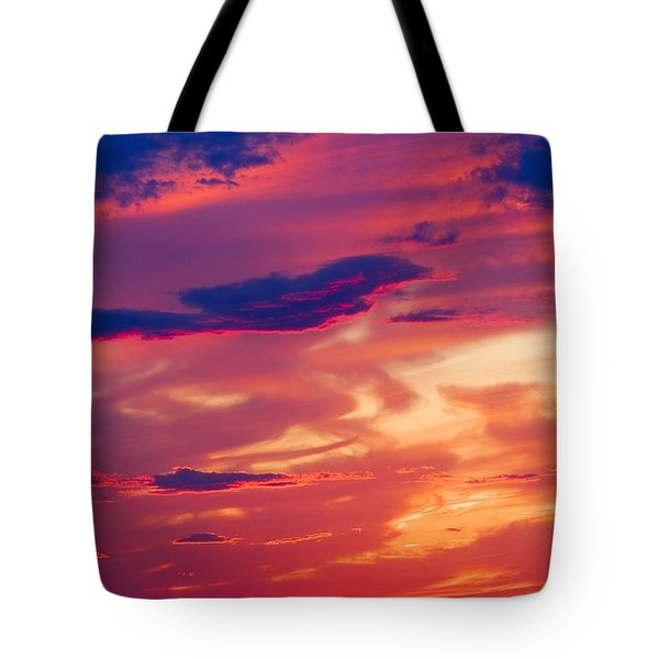 A Colorful Sky Tote Bag by Carson Ganci