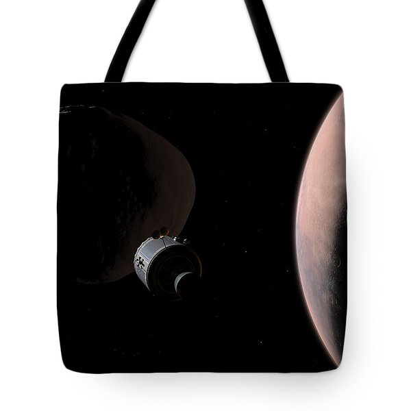 A Command Module Begins A Close Tote Bag by Walter Myers