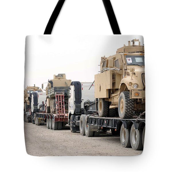 A Convoy Of Mine-resistant Ambush Tote Bag by Stocktrek Images