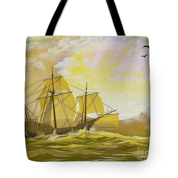 A Day at Sea Tote Bag by Cheryl Young
