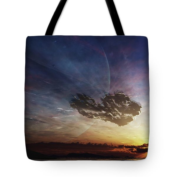A Despairing Man Sits On The Beach Tote Bag by Brian Christensen