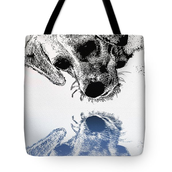 A Friendly Reflection Tote Bag by Bill Cannon