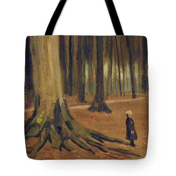 A Girl In A Wood Tote Bag by Vincent van Gogh