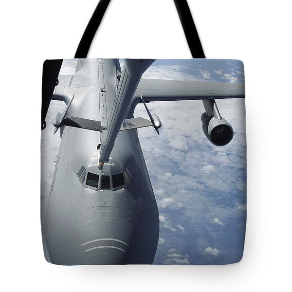 A Kc-10 Extender Prepares To Refuel Tote Bag by Stocktrek Images