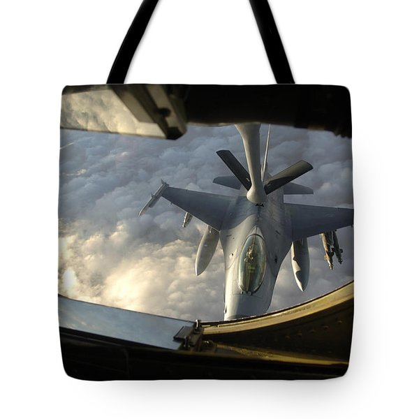 A Kc-135 Stratotanker Connects With An Tote Bag by Stocktrek Images