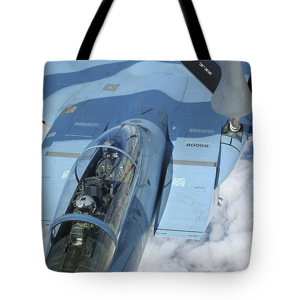 A Kc-135 Stratotanker Provides Tote Bag by Stocktrek Images