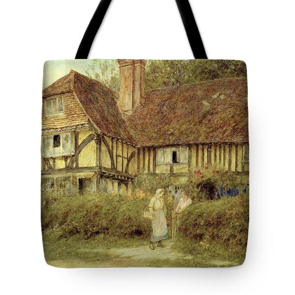 A Kentish Cottage Tote Bag by Helen Allingham