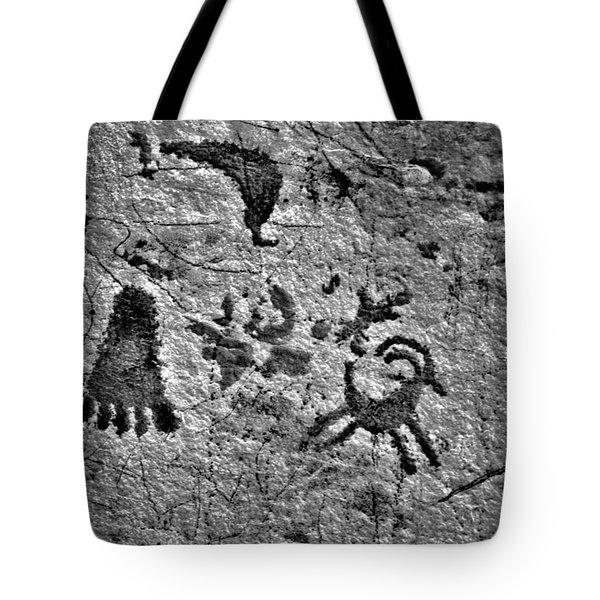 A Library Of Petroglyphs - Atlatl Rock Tote Bag by Christine Till