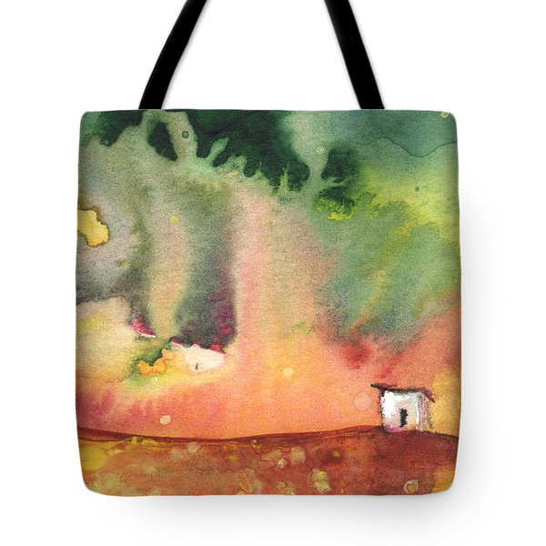 A Little House on Planet Goodaboom Tote Bag by Miki De Goodaboom