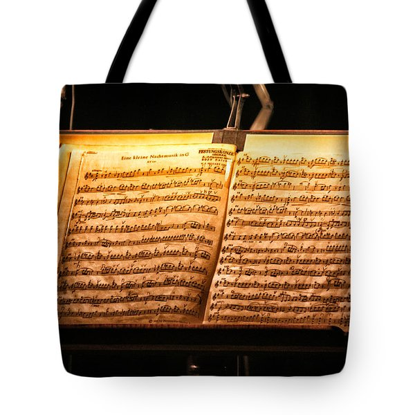 A Little Night Music Tote Bag by Lauri Novak