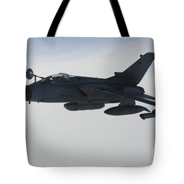 A Luftwaffe Tornado Ids Refueling Tote Bag by Gert Kromhout