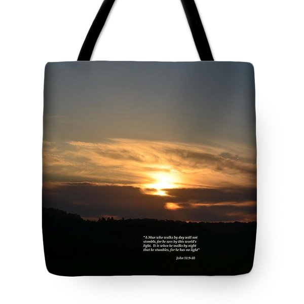 A Man Who Walks By Day Tote Bag by Maria Urso