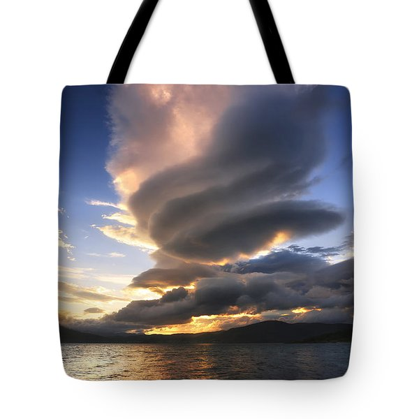 A Massive Stacked Lenticular Cloud Tote Bag by Arild Heitmann
