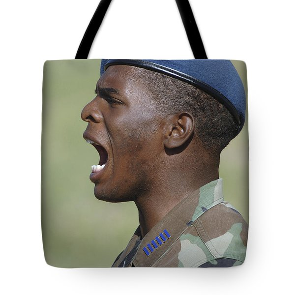 A Member Of The U.s. Air Force Academy Tote Bag by Stocktrek Images