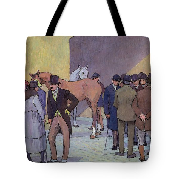A Morning At Tattersall's Tote Bag by Robert Polhill Bevan
