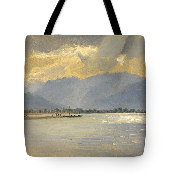 A Mountain Landscape Tote Bag by Unknown