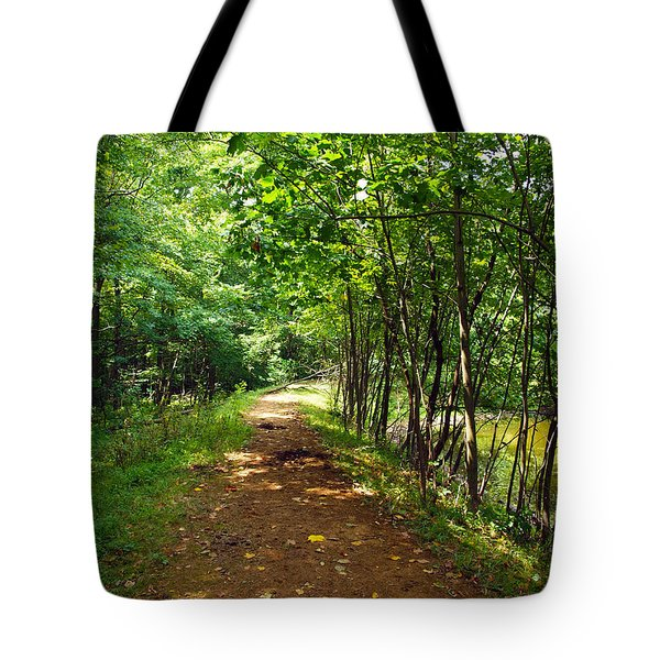 A Path Around The Pond Tote Bag by Robert Margetts