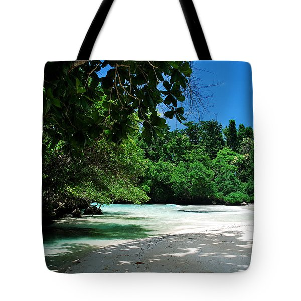 A Piece Of Paradice Tote Bag by Hannes Cmarits