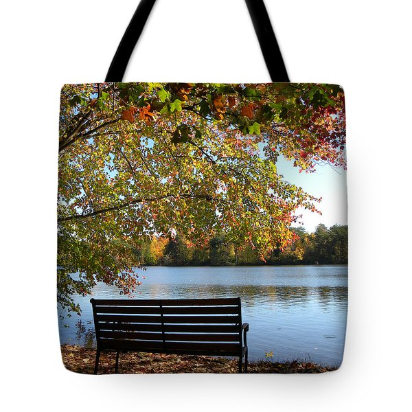 A Place For Thanks Giving Tote Bag by Sandi OReilly