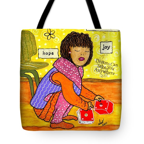 A Prayer That Dreams Come True Tote Bag by Angela L Walker