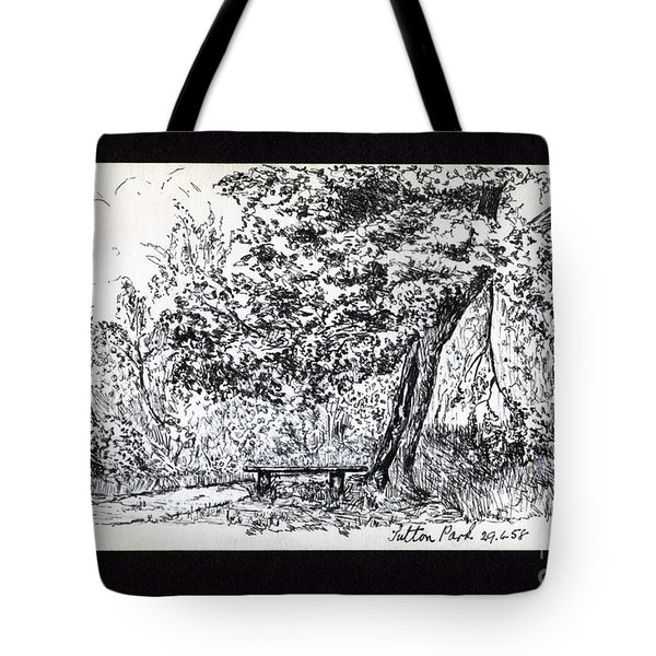 A Quiet Corner 1958 Tote Bag by John Chatterley