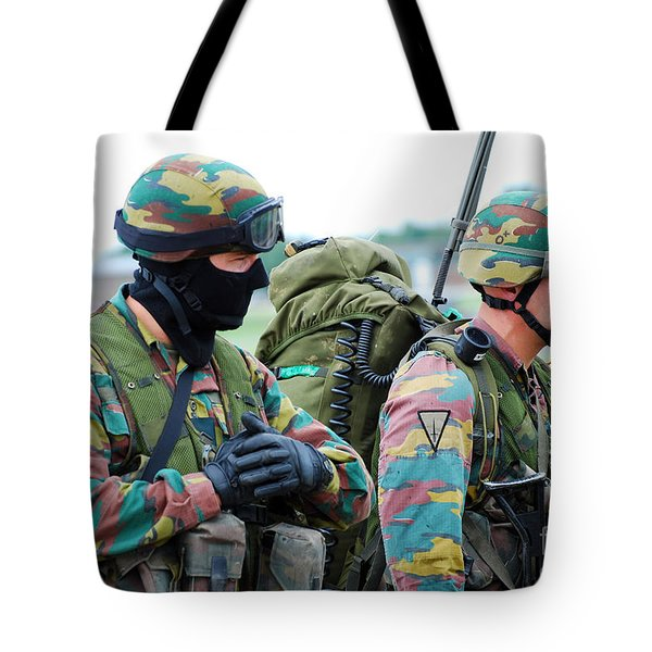 A Radio Operator And Members Tote Bag by Luc De Jaeger